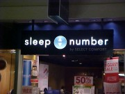 Sign install in Metairie Louisiana at Lakeside Shopping Center for Sleep Number store