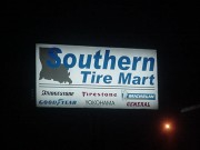 Backlit sign installed in Harahan Louisiana for Southern Tire Mart