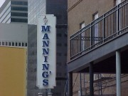 Signs installed in New Orleans on Fulton Street for Mannings Restaurant